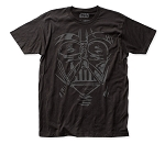 Star Wars Darth Vader Face fitted jersey tee