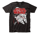 Star Wars Space Fight fitted jersey tee