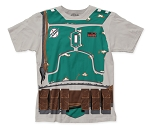 Star Wars Boba Fett Costume big print subway tee