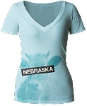 Censored Cow Nebraska V-Neck (Women's)