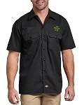 Monster Club Dickies Black Short Sleeve Work Shirt
