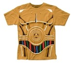 Star Wars C-3PO Costume big print subway tee