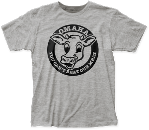 Can't Beat Our Meat! Nebraska Tee - Heather Grey (Unisex)