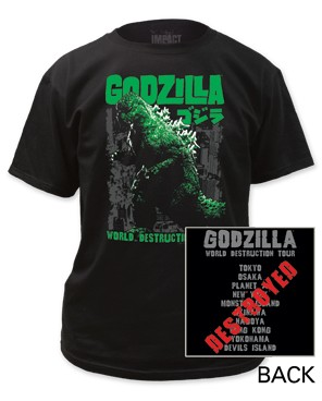 "Godzilla ""World Destruction Tour"" Tee"
