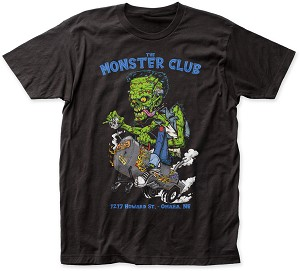 Monster Club Smoker Tee With Blue Lettering