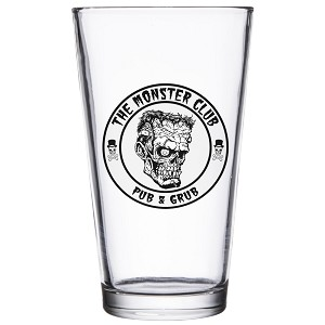 The Monster Club Logo 16 oz Pint Glass