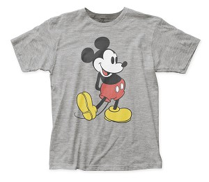"Mickey Mouse ""Pose"" White - Fitted Jersey Tee"