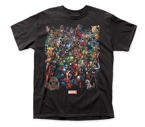 "Marvel Comics ""Marvel Universe"" - Fitted Cotton Tee"