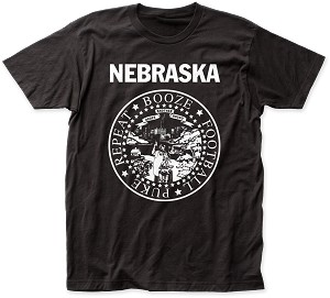Nebraska Booze, Football, Puke, Repeat Tee (Unisex)