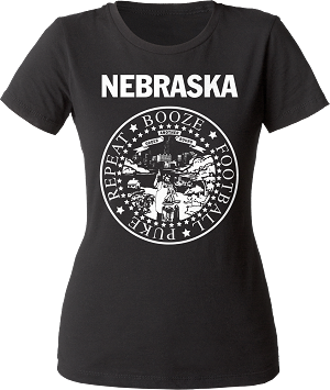 Booze, Football, Puke, Repeat Nebraska Tee (Women's)