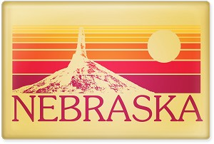 "Nebraska Chimney Rock 2.5"" Rectangle Magnet"