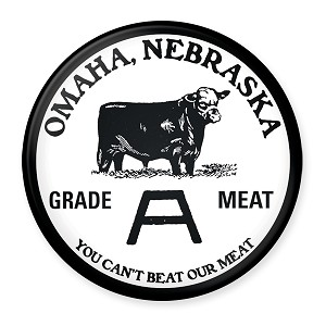 "Omaha Grade A Meat 2.5"" Round Magnet"