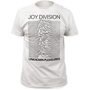 "Joy Division ""Unknown Pleasures"" - White Fitted Jersey Tee"