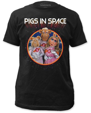 "The Muppets ""Pigs In Space"" - Fitted Cotton Tee"